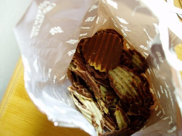 結合巧克力與洋芋片,既有甜味也有鹹味