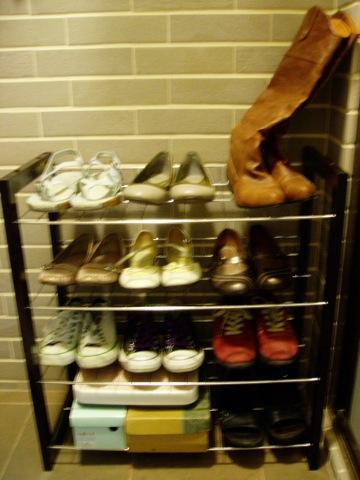 大潤發新買的鞋架