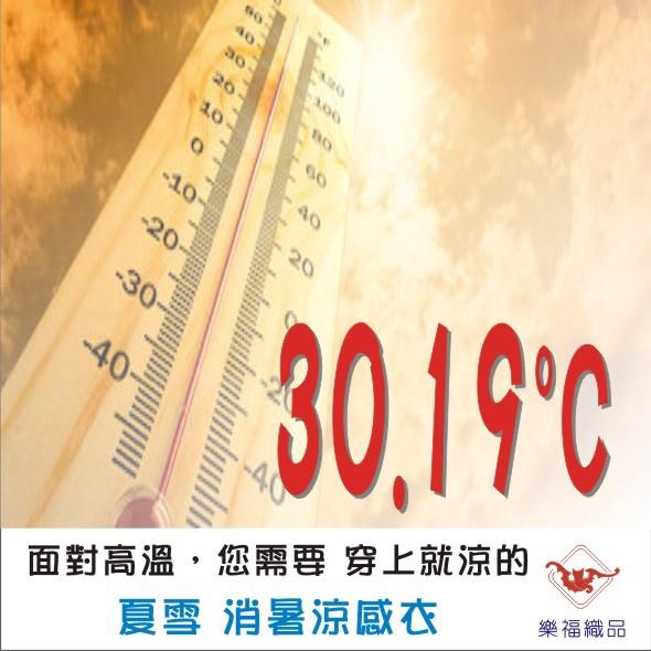 8月均溫30度