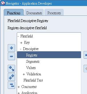 Flexfield > Descriptive > Register