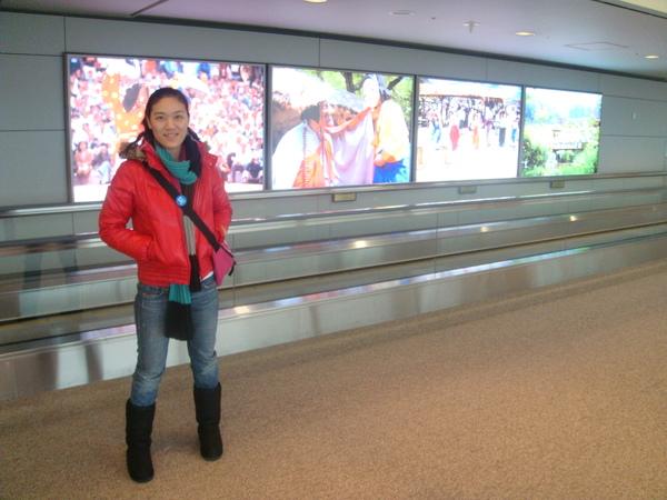 抵達韓國仁川機場