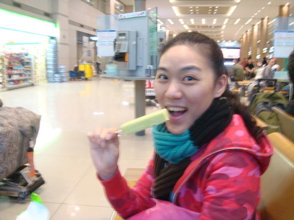 這是哈密瓜冰棒