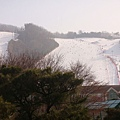 從渡假村看滑雪場