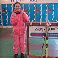 第三天一早就著裝完成準備滑雪