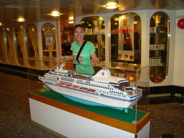 上船後的lobby是在船身的四樓,這是整艘天秤星號的迷你模型