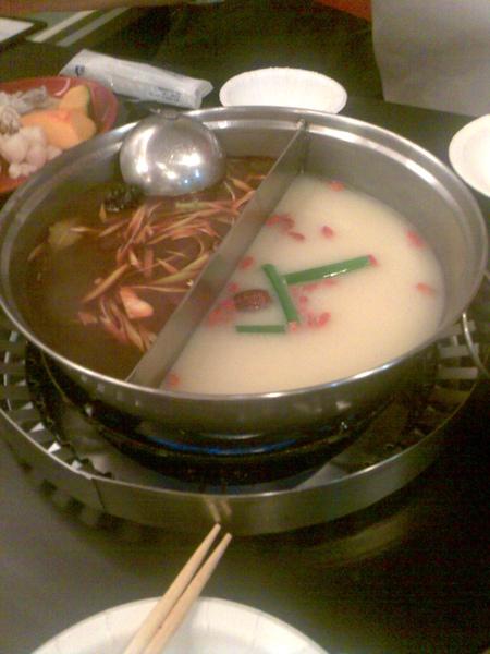 鍋底(麻辣+豚骨)