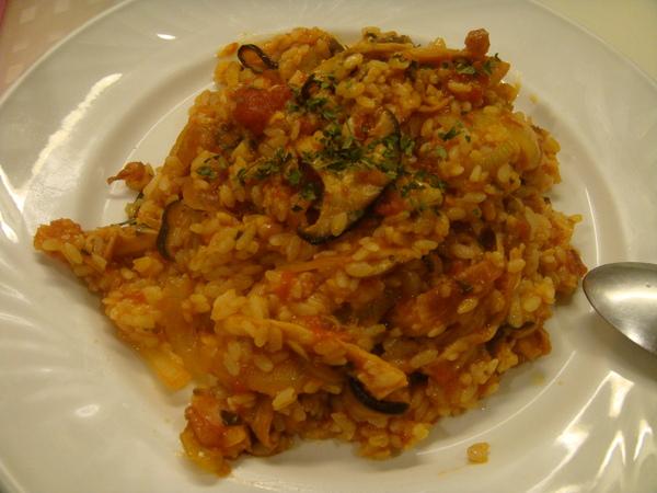 蕃茄野菇燻雞燉飯