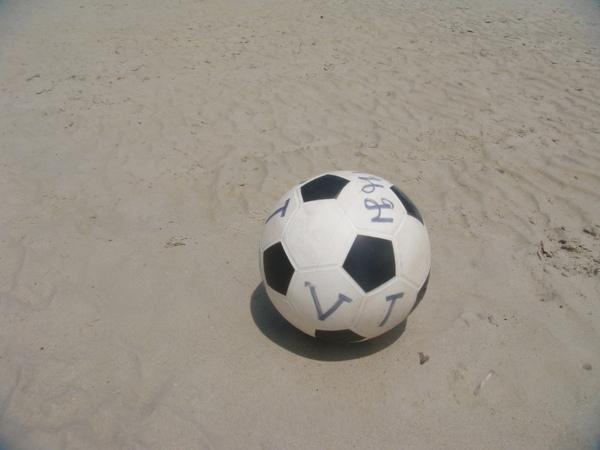 買了一個海灘球來玩玩~