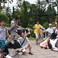 騎乳牛群的大合照