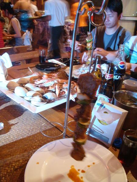 BBQ肉串上菜囉