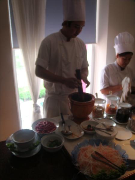 現場青木瓜絲料理