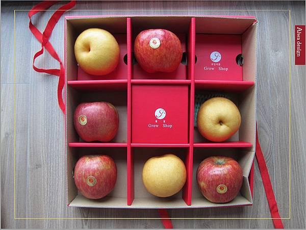 果夏GrowShop中秋節送禮推薦!有超甜的加州空運水蜜桃禮盒,韓國園黃梨+智利富士蘋果禮盒-12.jpg