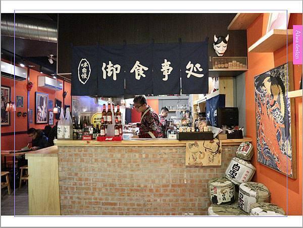 【新竹車站美食】新竹居酒屋《深夜食堂》有串燒、烤物、私房料理等,晚餐和愛人小酌約會一下-02.jpg
