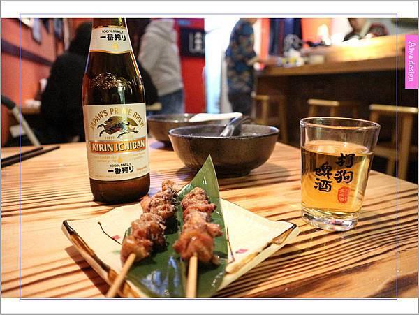 【新竹車站美食】新竹居酒屋《深夜食堂》有串燒、烤物、私房料理等,晚餐和愛人小酌約會一下-32.jpg