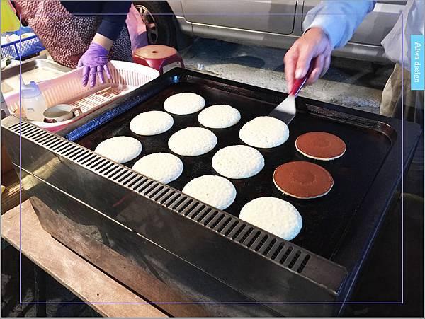 【週日竹北夜市吃什麼】推薦可愛老婆婆賣的銅鑼燒!現煎餅皮,帶點甘甜口感,一種純樸的美味-12.jpg