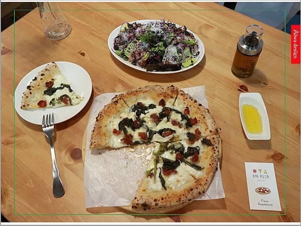 【新竹美食】OYA PIZZA傳統拿坡里式披薩,平價又好吃!老闆隨興,不加化學原料,皮薄好消化。隱身巷弄的手工披薩-04.jpg