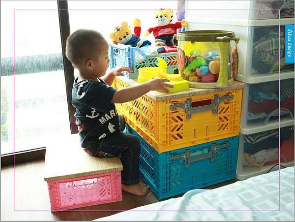 【收納好物】土耳其AYKASA多色摺疊收納籃,耐重、收納、家用露營的好幫手,可當小邊桌,環保居家新選擇-01.jpg