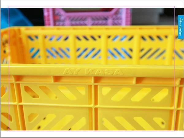 【收納好物】土耳其AYKASA多色摺疊收納籃,耐重、收納、家用露營的好幫手,可當小邊桌,環保居家新選擇-14.jpg