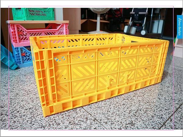 【收納好物】土耳其AYKASA多色摺疊收納籃,耐重、收納、家用露營的好幫手,可當小邊桌,環保居家新選擇-15.jpg