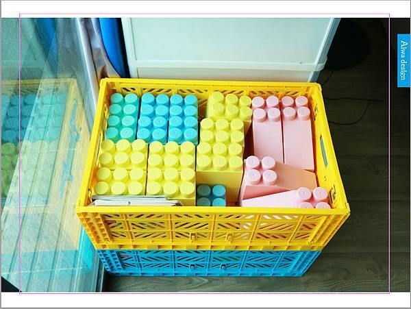 【收納好物】土耳其AYKASA多色摺疊收納籃,耐重、收納、家用露營的好幫手,可當小邊桌,環保居家新選擇-23.jpg