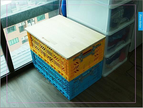 【收納好物】土耳其AYKASA多色摺疊收納籃,耐重、收納、家用露營的好幫手,可當小邊桌,環保居家新選擇-24.jpg