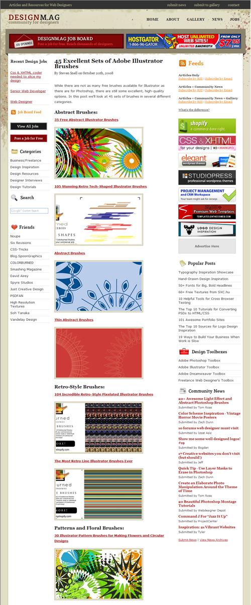 http://designm.ag/resources/adobe-illustrator-brushes/
