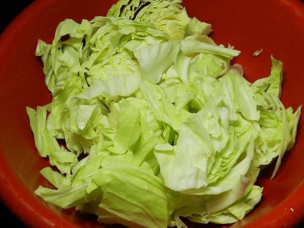 黑胡椒高麗菜洗菜