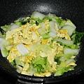 大白菜加入蛋炒