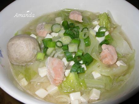 味噌湯麵,鮭魚湯麵