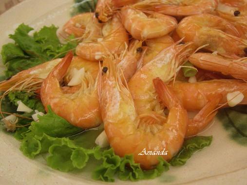 紅蟳餐廳-蒸蝦.JPG
