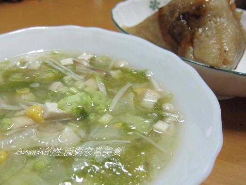 蔬菜菇菌味噌湯
