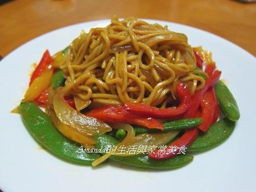 乾炒蔬菜咖哩麵