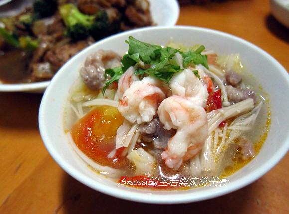 鮮蝦蔬菜湯