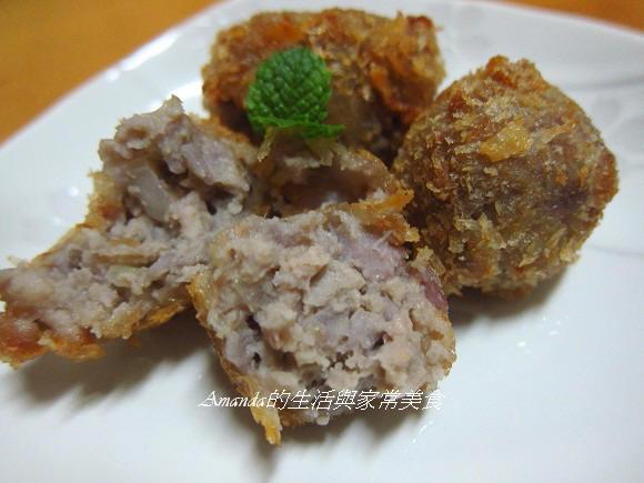 芋泥酥炸肉丸 (3)