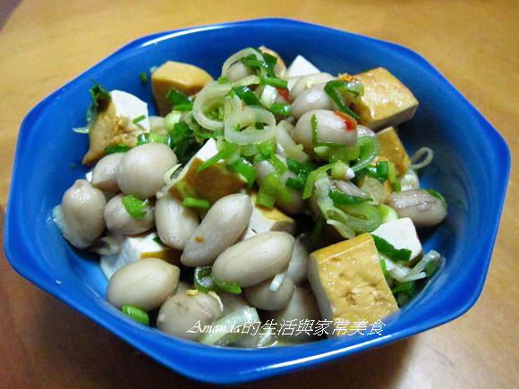 香蒜花生豆干丁
