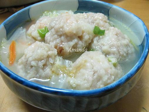 蝦肉丸蔬菜湯.JPG