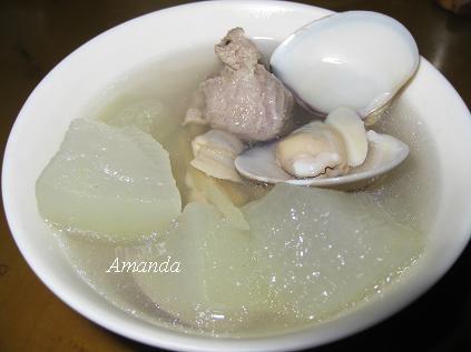 冬瓜排骨蛤蜊湯,冬瓜蛤蜊,冬瓜蛤蜊排骨湯,冬瓜蛤蜊湯,冬瓜蛤蠣湯,蛤蜊冬瓜排骨湯
