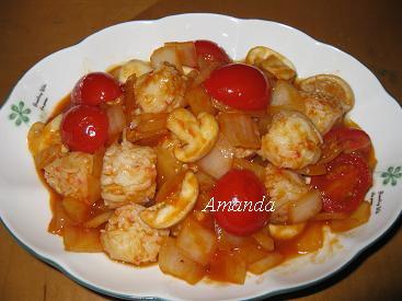 茄汁燴蝦球