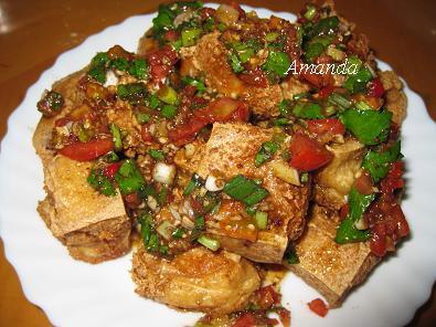 椒麻香酥豆腐