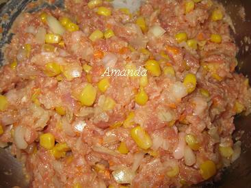 玉米漢堡排餡料2