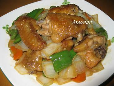 蔬菜照燒雞翅