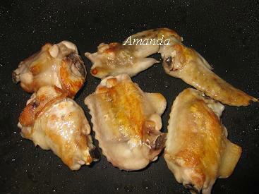 蔬菜照燒雞 煎雞翅