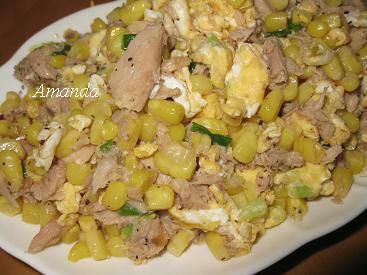鮪魚玉米炒蛋