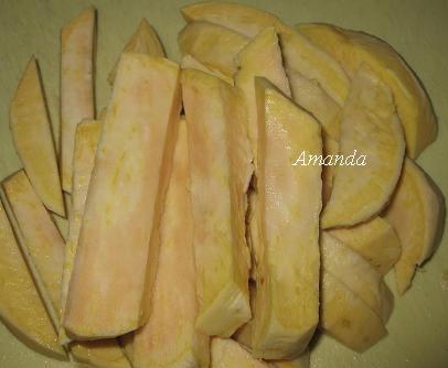 黃金薯條-地瓜薯條 切好薯條