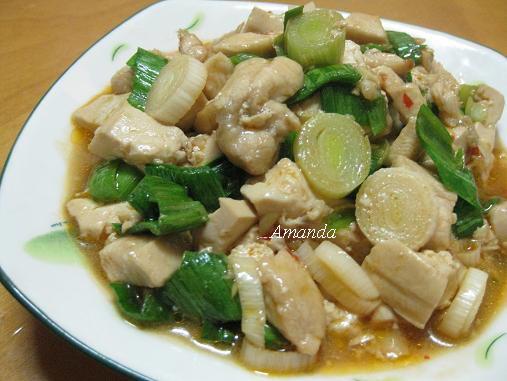 雞丁蒜苗辣豆腐.JPG