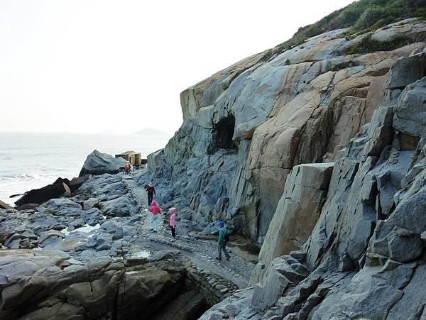 北海坑道碉堡海景