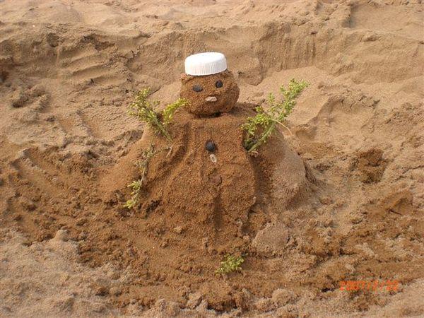 111可愛的沙灘小雪人