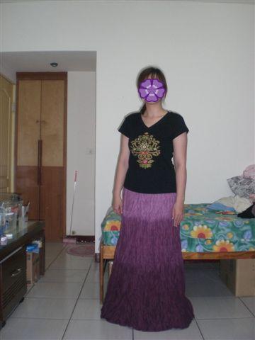 紫色民族風長裙