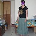 綠色超澎長裙