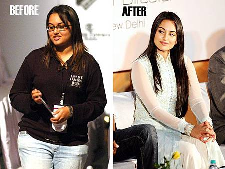 Sonakshi Sinha減肥前後